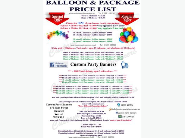Party balloons and shop