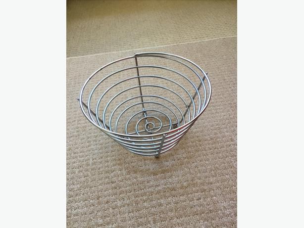 Chrome metal Fruit Bowl