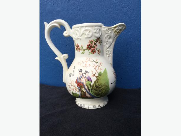 Chinese or Japanese Large Jug highly decorated