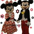 HIRE MINNIE MICKY MOUSE PEPPA GEORGE PIG ADULT MASCOT FANCY DRESS COSTUME