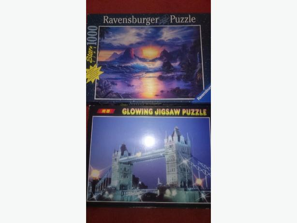x2 1000 piece glow in the dark jigsaw puzzle  £2each or both for £3.50