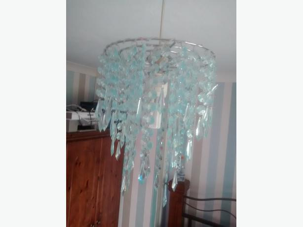Teal Small Chandelier