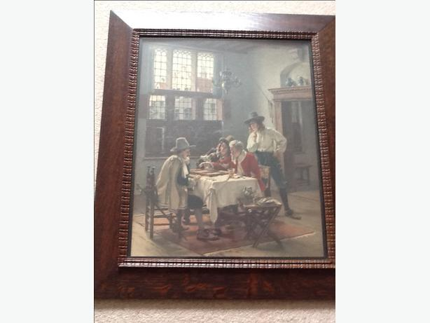 "Antique Dutch scene ""The Gamblers"" ( large print) by A Schroder?"