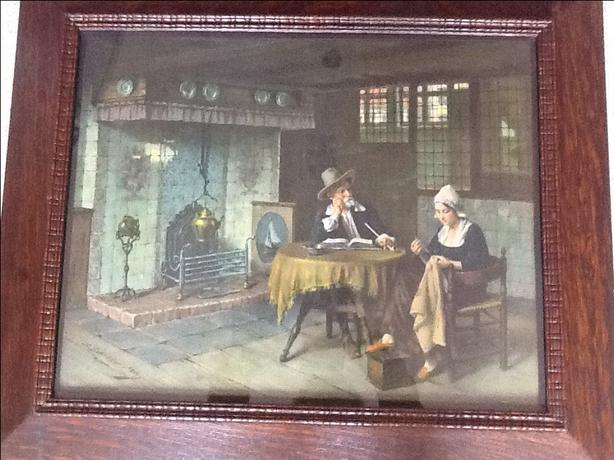"Large Dutch print by A Schroder "" A Dutch Home """