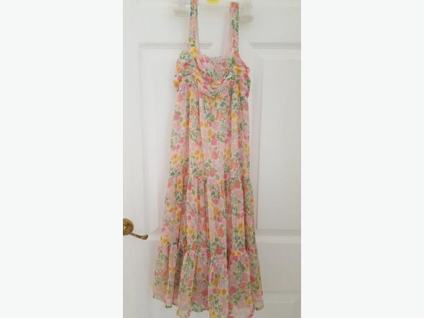 light chiffon patterned dress