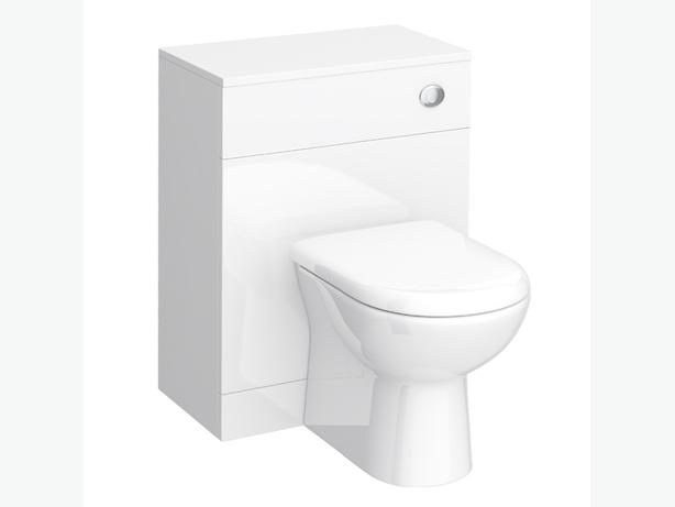 white gloss toilet