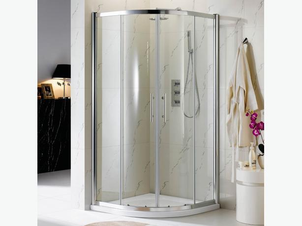Ocean Shower Enclosure 900 x 900mm Cubicle Glass Screen Door (NS7-90)
