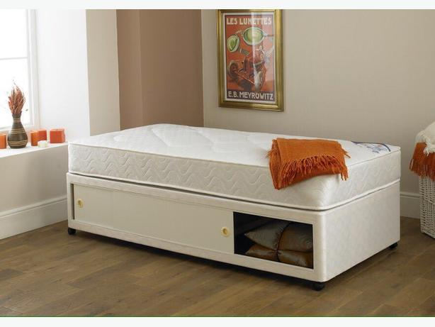 SINGLE BED WITH SLIDER STORAGE SPACE- buy better/ last longer