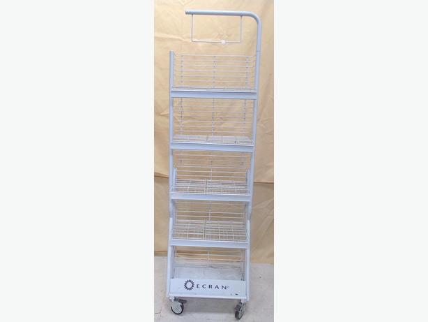 Ecran 5 Shelf Shop Display with Wheels