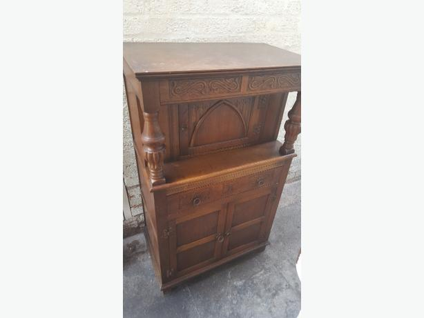 antique oak courthouse cabinet