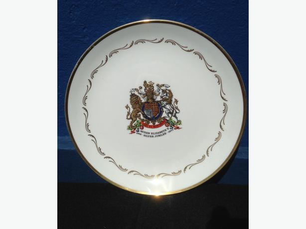 Silver Jubilee Plate Queen Elizabeth II Plate Royal Stafford Bone China 1977