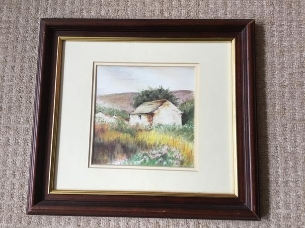 Signed Original Watercolour Painting Yorkshire Dales Field Barn Art Farming
