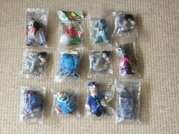 Early Mcdonalds Happy Meal Toys 2001 - 2004 Simpsons Smurfs Winnie the Pooh