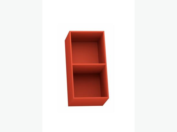RED 2 Cube Shelving Unit (H)692mm (W)352mm Form Konnect BRAND NEW ...