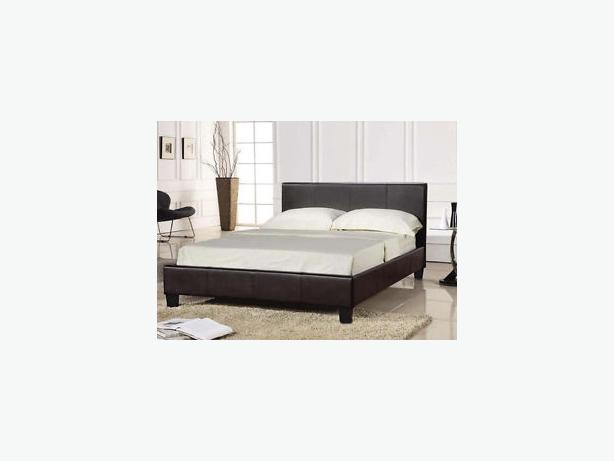 LEATHER DOUBLE  NEW BED COMES WITH MATTRESS - best package deal