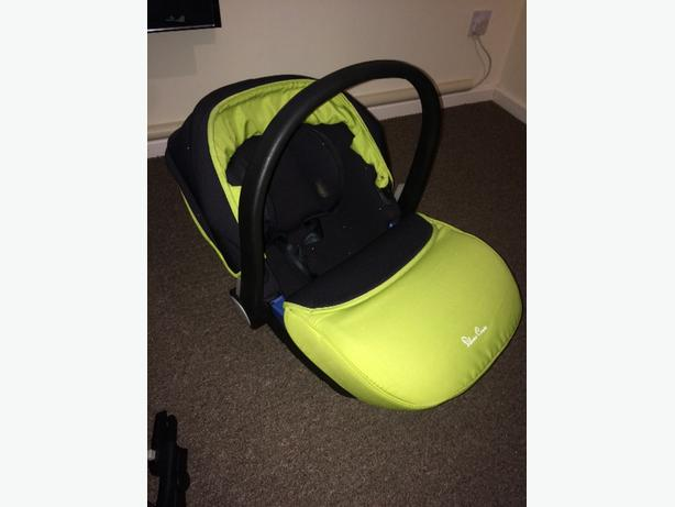 Silver cross surf car seat lime green