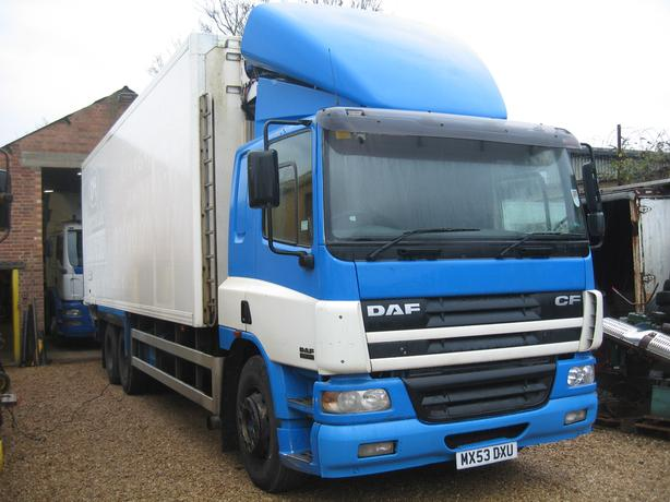 2003 DAF CF75.310 6 x 2 10 Wheel Fridge Van, Rear Doors