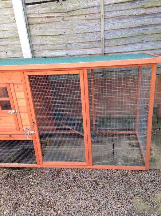 Chicken duck rabbit coop outside black country region for Can ducks and chickens share a coop