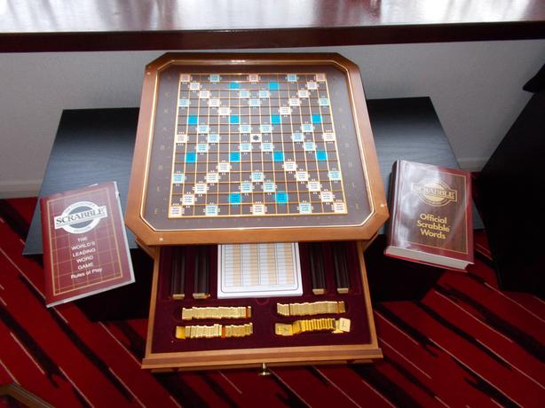 Deluxe classic collection scrabble board.