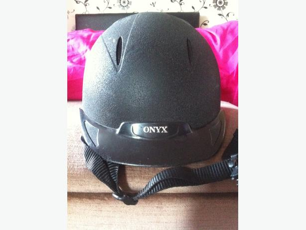 childrens onyx riding hat