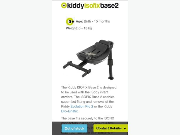 car seat base