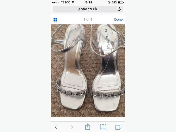 silver sandels