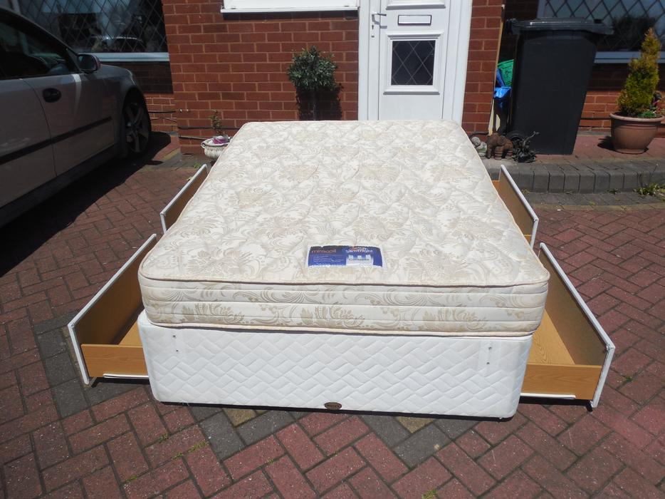 Double Divan Bed And Drawer Mattress For Sale Dudley Dudley