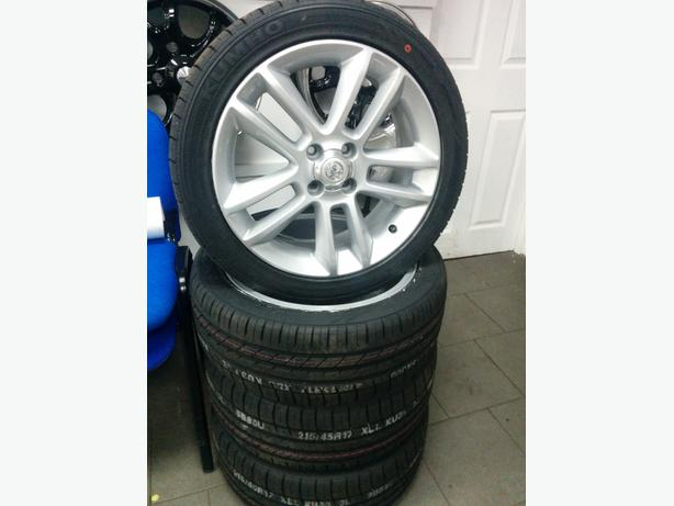 Set of  17 inch Original Vauxhall Corsa Alloy Wheels and new Kumho tyres