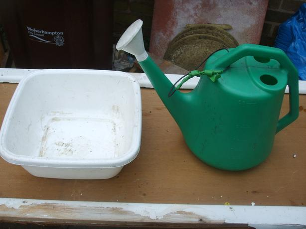 watering can and bowl