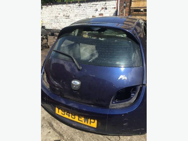 FORD KA BOOT / TAILGATE /MK1 STATE BLUE F8 MINUES BOOT LOCK AND SPOILER