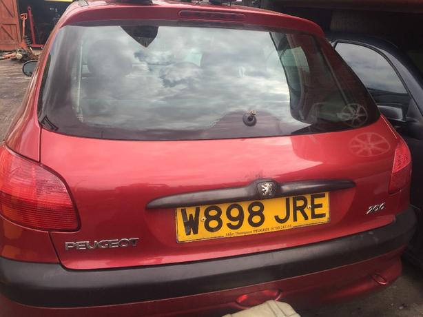 PEUGEOT 206 BOOT TAILGATE PAINT CODE RED EKQ