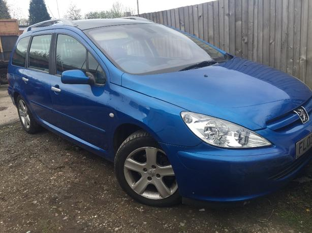 PEUGEOT 307 2.0 HDI 110BHP SW BREAKING ALL PARTS ALL PARTS PAINT CODE BLUE KMF
