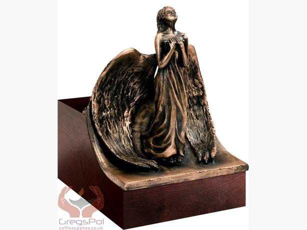 Unique Artistic Cremation Urn Relief- Angel Funeral Urn for Adult Urn for Ashes