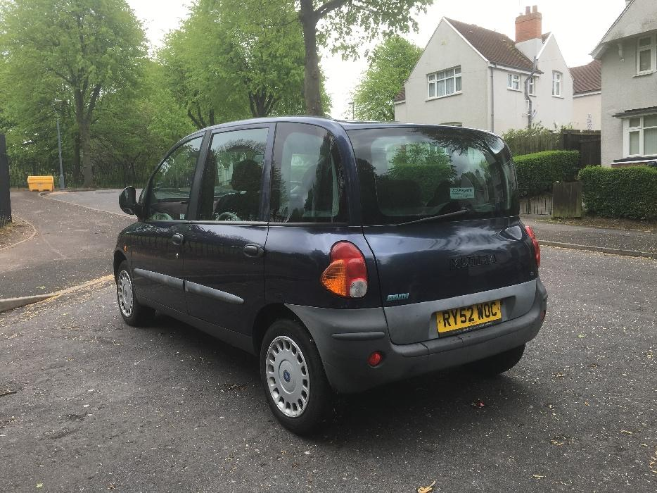 2003 52 fiat multipla sx jtd 1 9 diesel 6 seater low mileage drives good great barr dudley. Black Bedroom Furniture Sets. Home Design Ideas