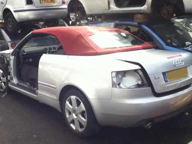 AUDI A4 CONVERTIBLE BREAKING FOR SPARES 3.0 PETROL