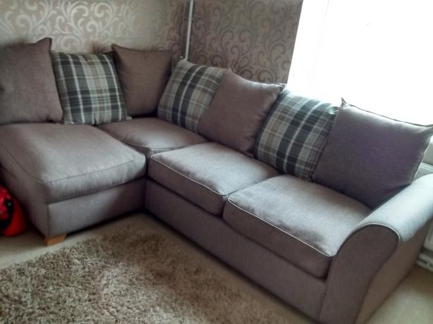 Pillow Back Corner Sofa