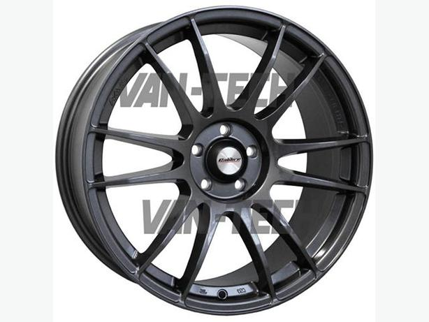 "Brand new set of 17"" Calibre Suzuka multi spoke alloy wheel Gun Metal Finish"