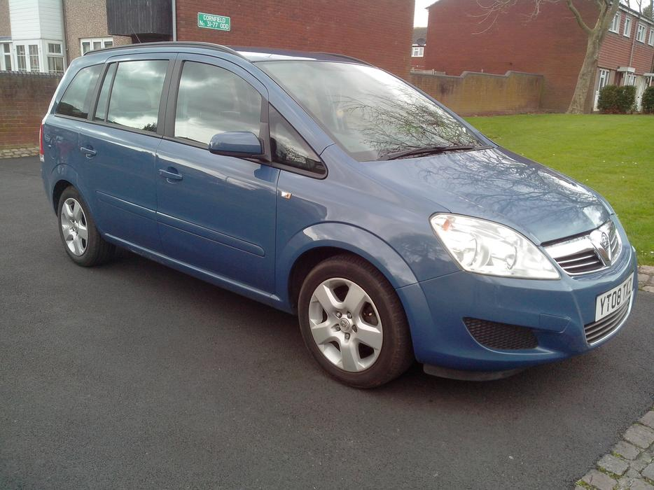vauxhall zafira 1 6 exclusive 2008 7 seater blue wolverhampton sandwell. Black Bedroom Furniture Sets. Home Design Ideas