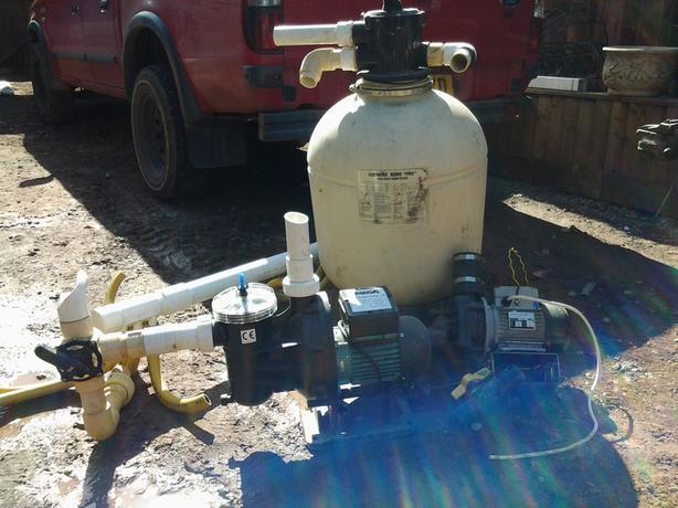 Sand filter,skimmer,chlorantor,pump full kit