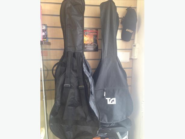 Electric, Acoustic, Classical and Bass guitar bags NEW.