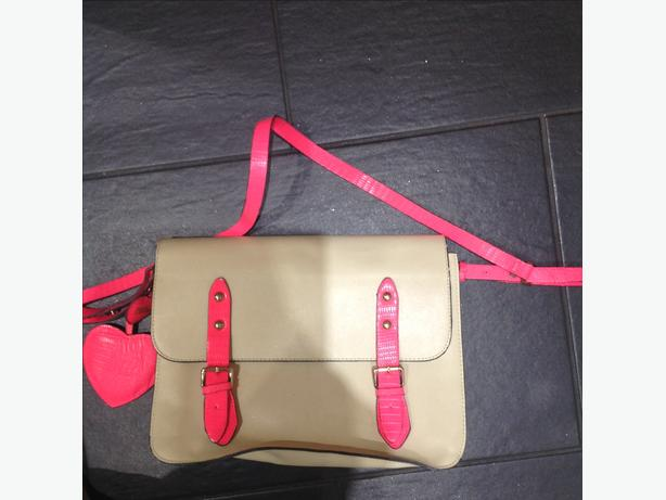 Paul boutique satchel real leather
