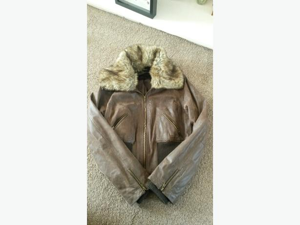 ladies size 14 brown leather