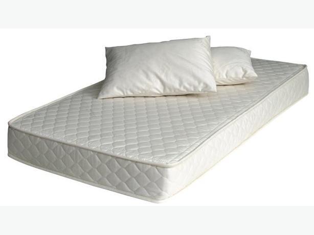 SINGLE DIAMOND WHITE MATTRESS- comes with free pillow set