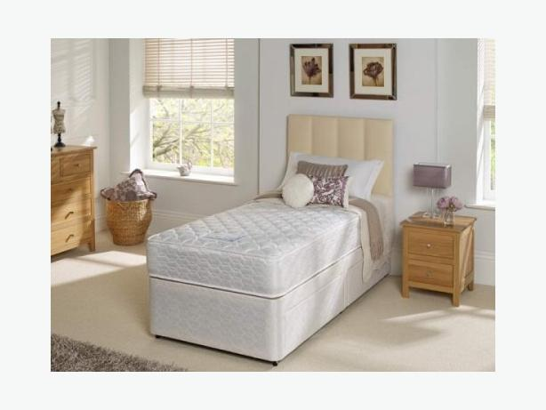 PLATINUM SINGLE BED WITH 2 pull out draws