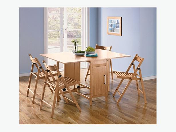 Oak Effect Foldaway Dining Table And 4 Chairs RRP DUDLEY Sandwell