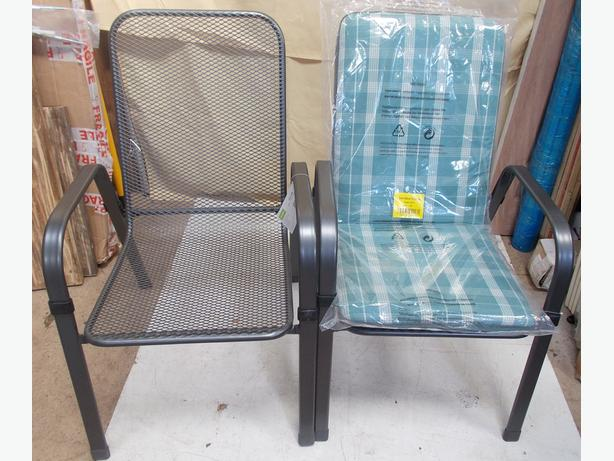 Set of 2 Kettler Grey Chairs With Seat Pad