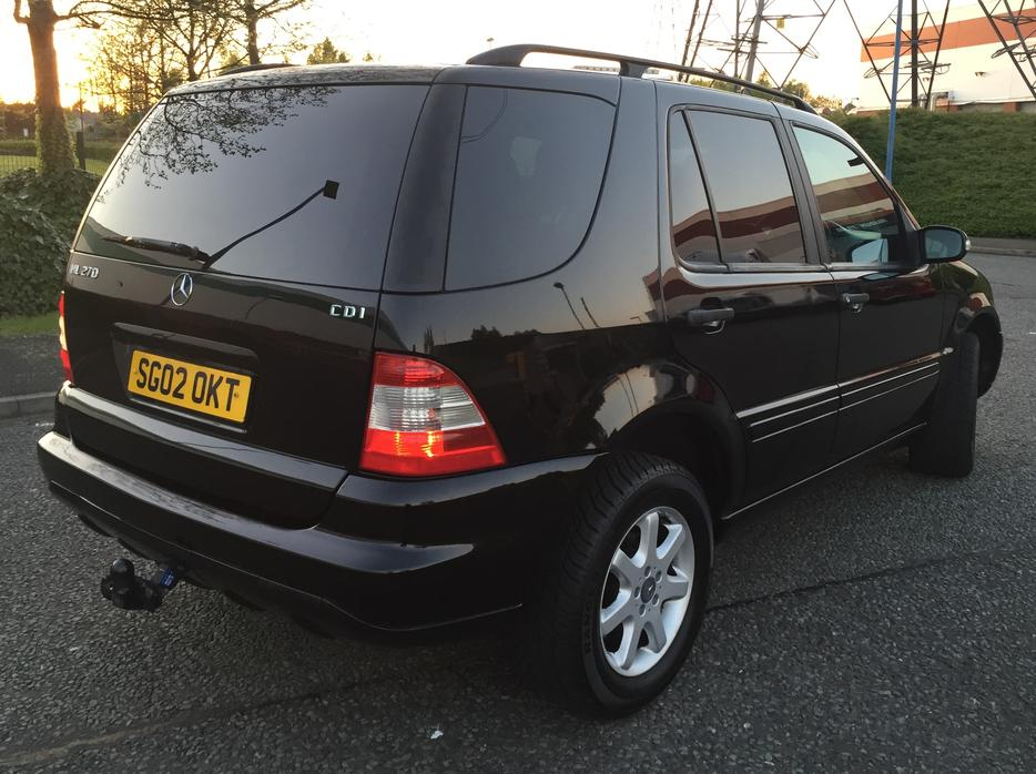 2002 mercedes ml 270 cdi auto black estate 4x4 jeep towbar fsh 7 seater tipton sandwell. Black Bedroom Furniture Sets. Home Design Ideas