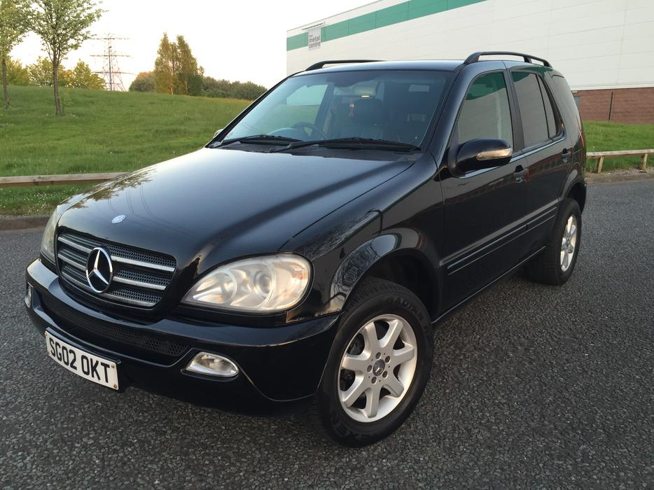2002 mercedes ml 270 cdi auto black estate 4x4 jeep. Black Bedroom Furniture Sets. Home Design Ideas