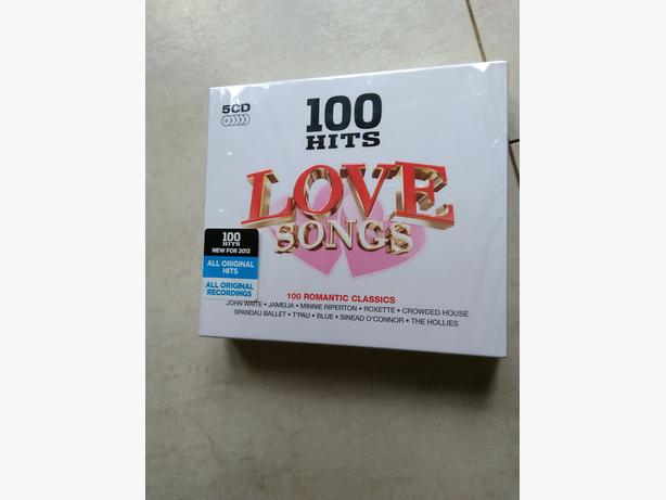 100 Hits - Love Songs 5 CD Box Set New Unopened