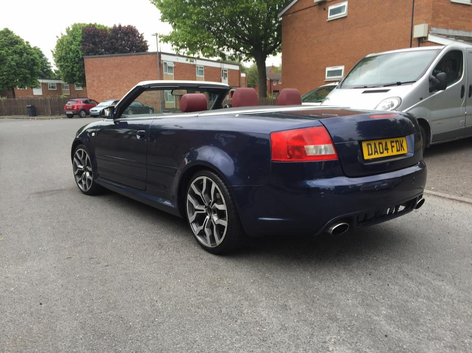 2004 04 audi a4 convertible 1 8 sport turbo rs4 rep smethwick sandwell mobile. Black Bedroom Furniture Sets. Home Design Ideas